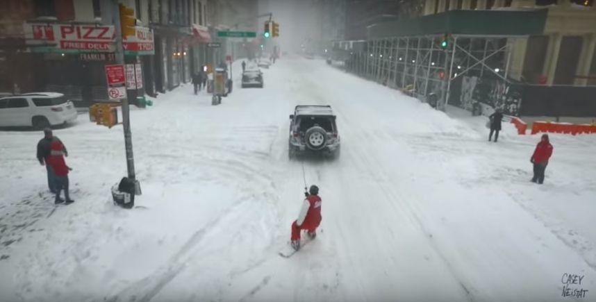 Snowzilla fait le bonheur des sportifs