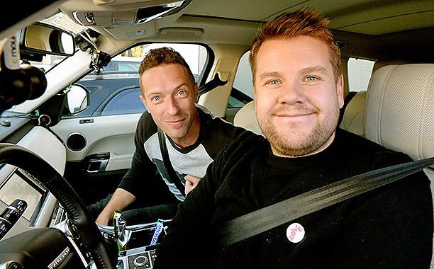 Chris Martin pousse la chansonnette avec James Corden