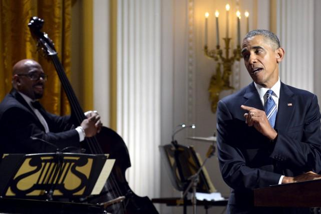 Barack Obama a rendu hommage à Ray Charles à la Maison-Blanche. Photo REUTERS
