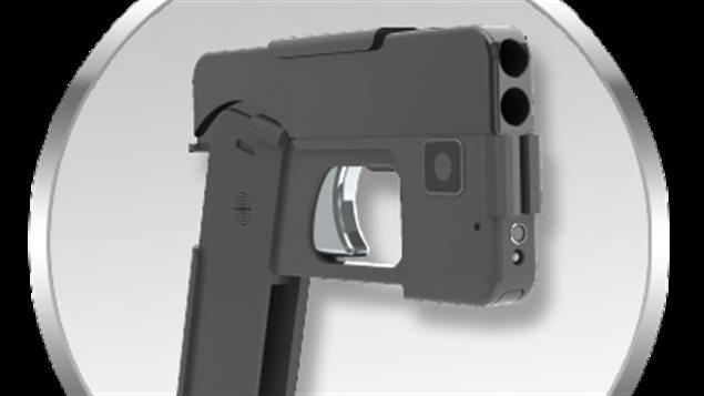 Le pistolet en forme de téléphone intelligent