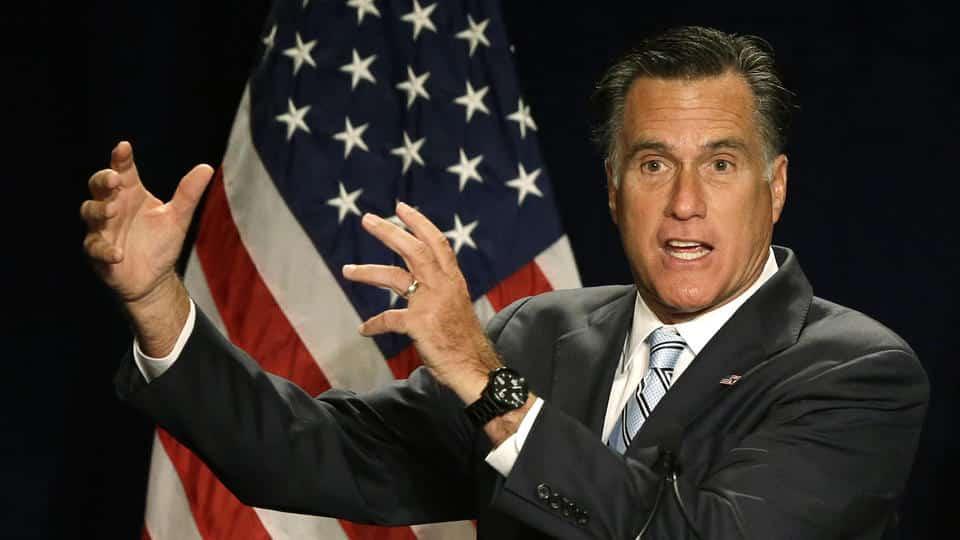 L'ex-candidat républicain à la présidentielle américaine Mitt Romney