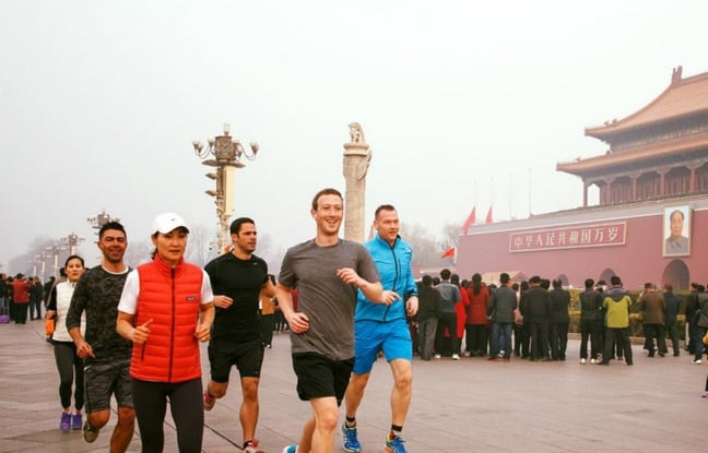 mark zuck joging une