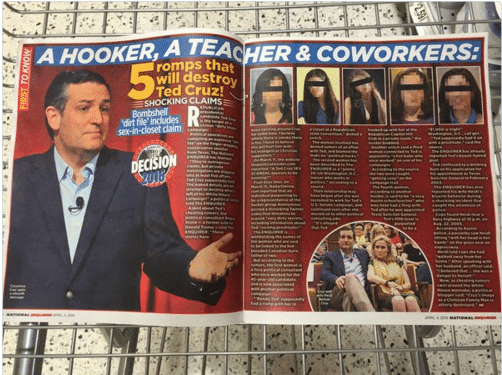 ted cruz rumeurs