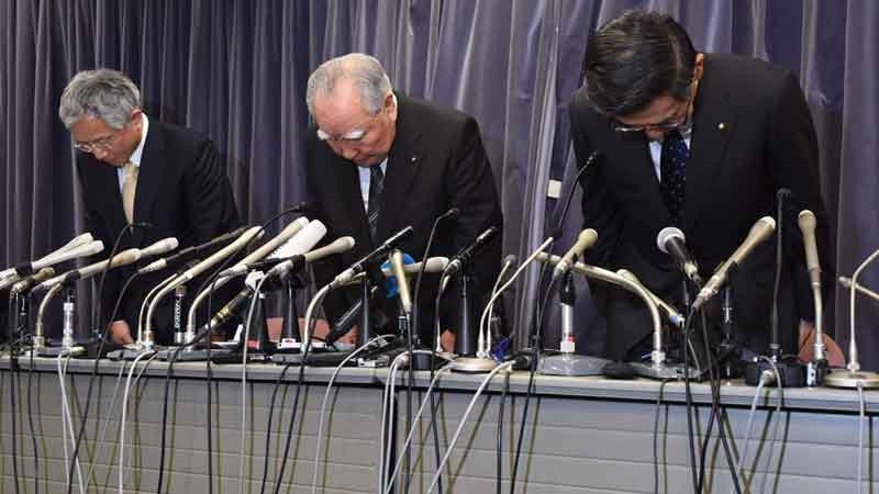 Les patrons de Suzuki présentent leurs excuses. Photo AFP
