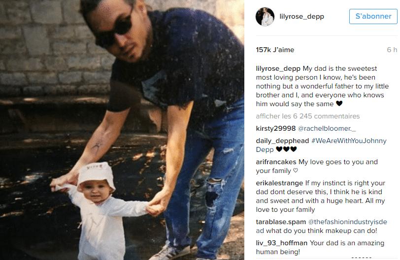 lily depp et papa