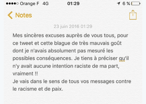 cauet excuses