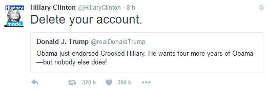 hillary trump tweet