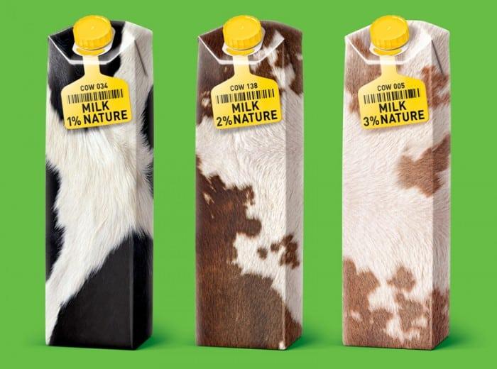 packaging de lait