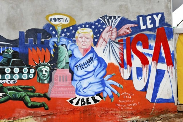trump fresque