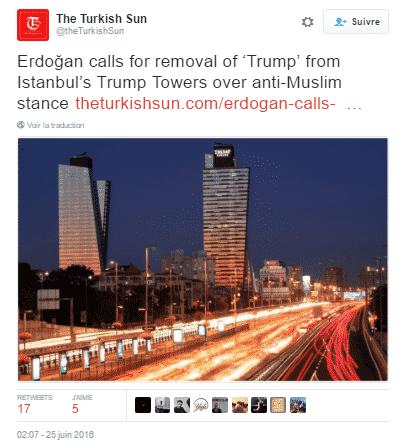 tweet trump tower