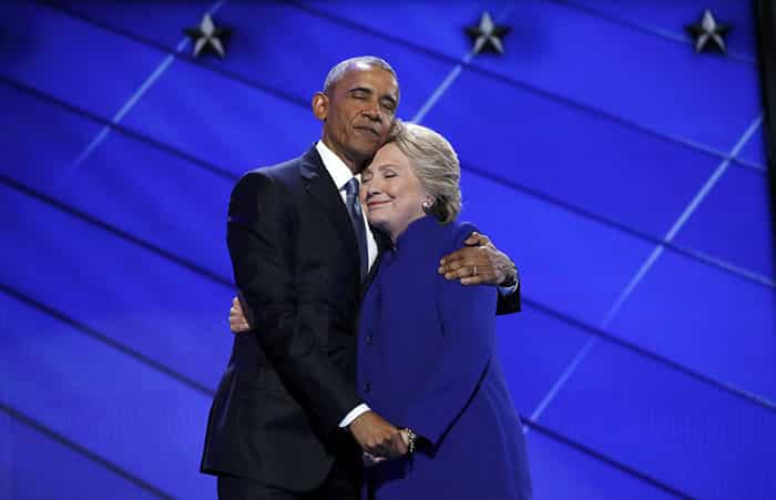 Hillary Clinton et Obama