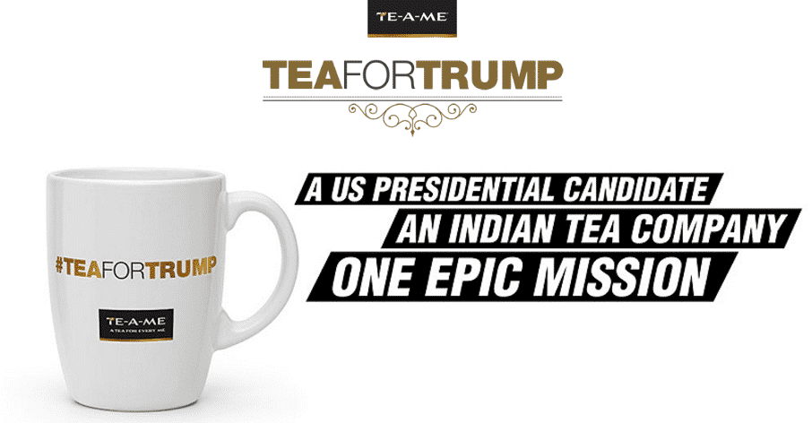 Capture d'écran du site teafortrump.com