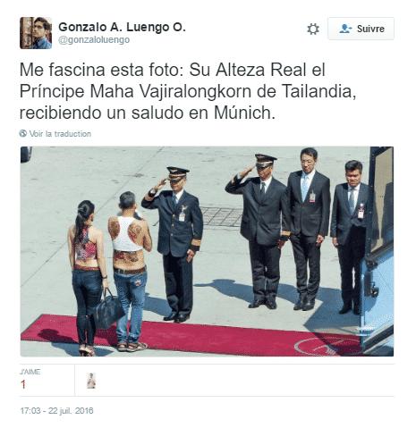 prince thailande tweet