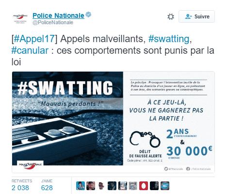 tweet police swatting