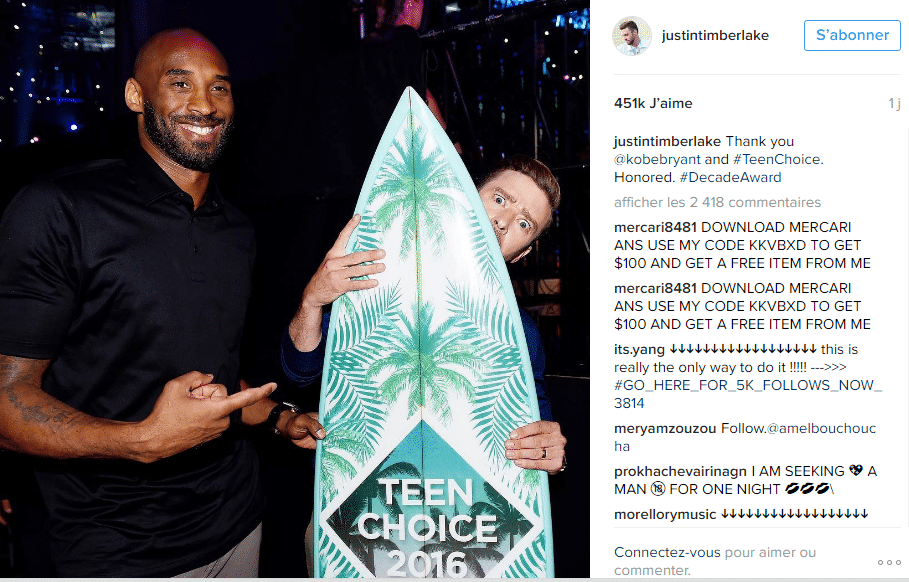 JUSTIN TEEN CHOICE