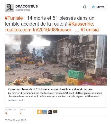 accident tunisie