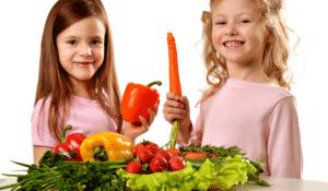 enfants vegetaliens