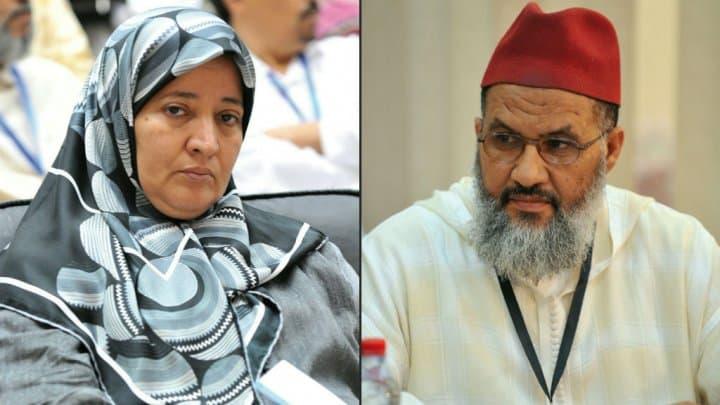 Fatima Nejjar et Moulay Omar Benhammad sont tous deux vice-présidents du Mouvement unicité et réforme (MUR), l'aile religieuse du PJD (Parti justice et développement).