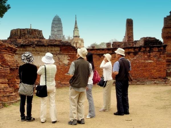 les touristes en thailande