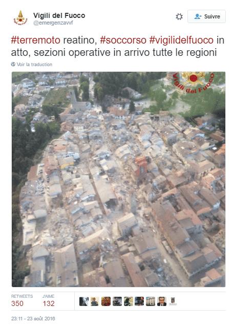 seisme italie tweet