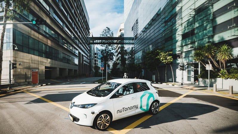 Un taxi de la start-up nuTonomy