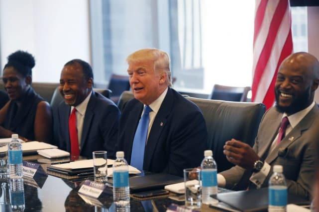 Donald Trump tente notamment d'élargir sa base électorale vers la communauté noire. Photo AP