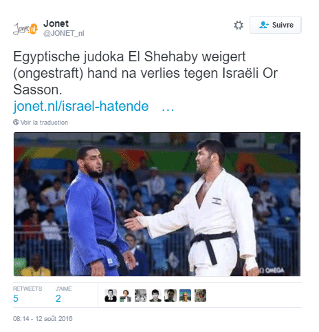 tweet judoka egyptien