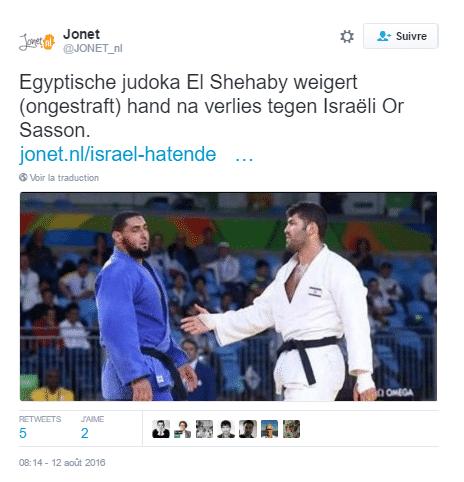 tweet judoka egyptien