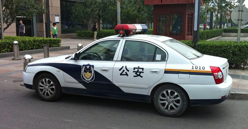 voiture police chinoise