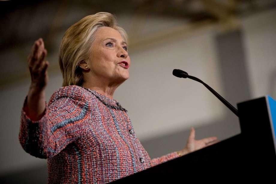 Hillary Clinton lors de son retour à Greensboro