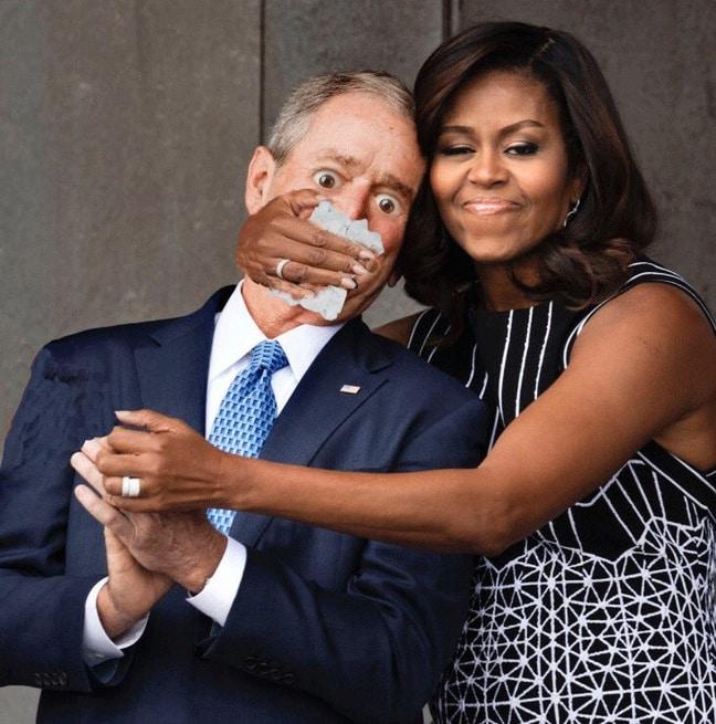 michelle-obama-et-george-w-bush-0