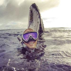 baleine selfie