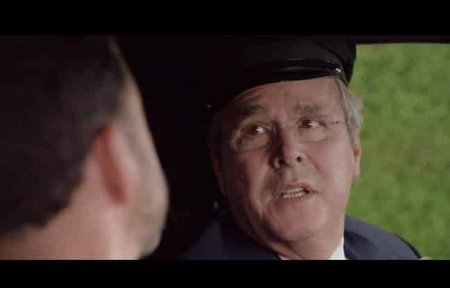 Jeb Bush durant son apparition aux 68e Emmy Awards