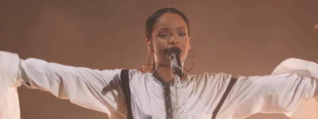 Rihanna lors du concert de Global Citizen
