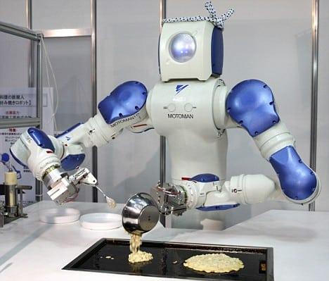 Robot faisant la cuisine