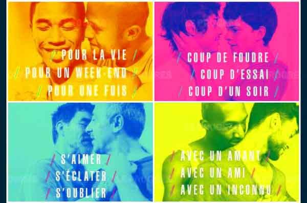 Affiches de la campagne de prévention du sida.